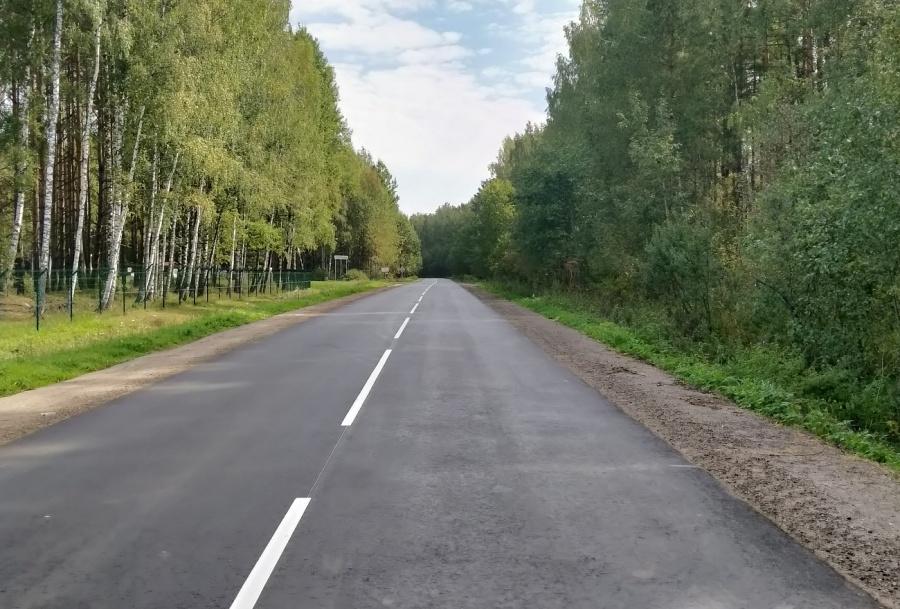 В Тверской области завершен ремонт участка дороги в Конаковском районе