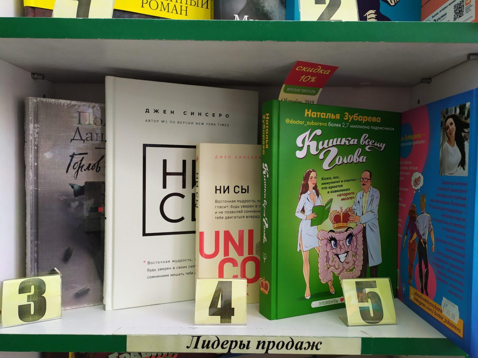 Глубоко не лезем: о чём говорят обложки книг в тверских магазинах