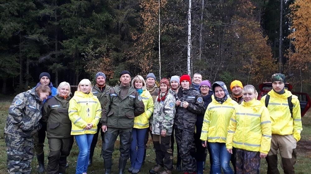 Вышневолоцкие волонтёры отработали навыки в лесу