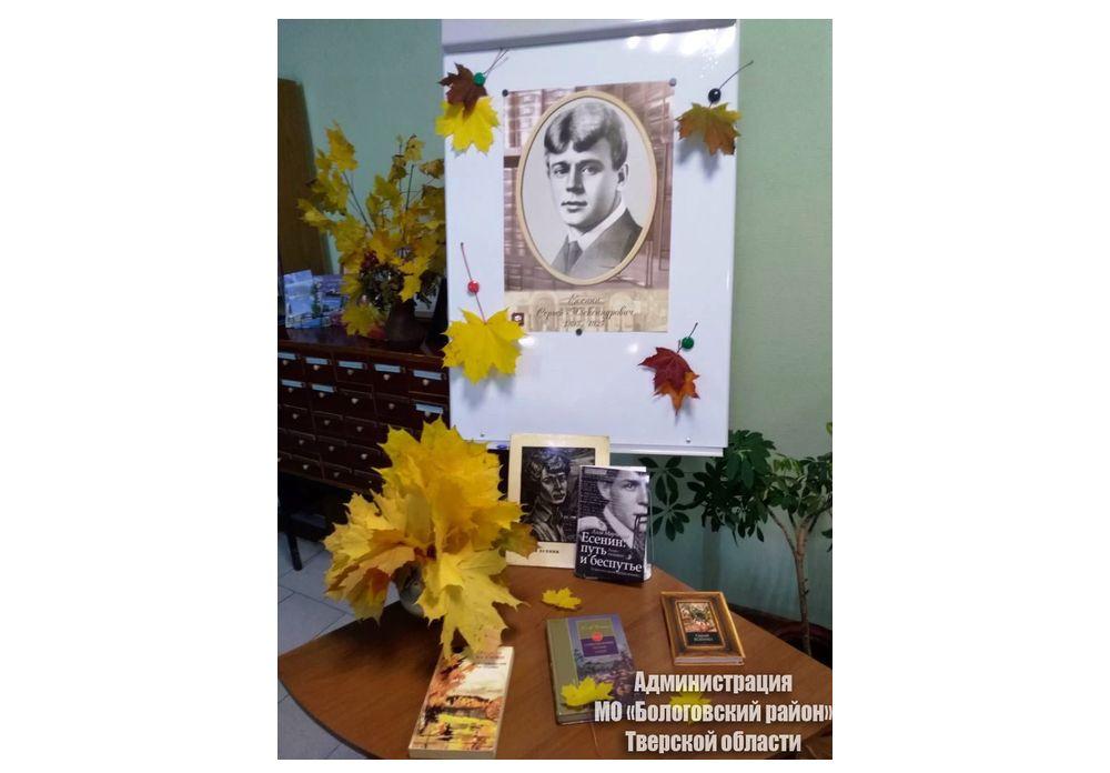 В Бологовской библиотеке вспомнили Сергея Есенина