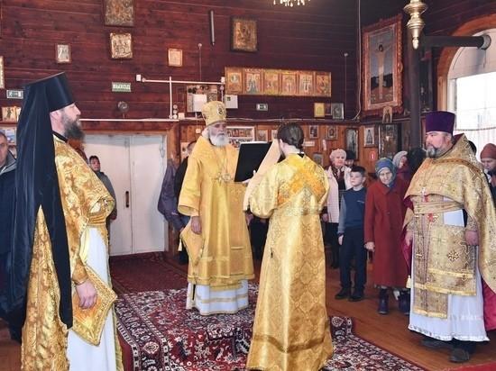 В Андреаполе встретили епископа Адриана