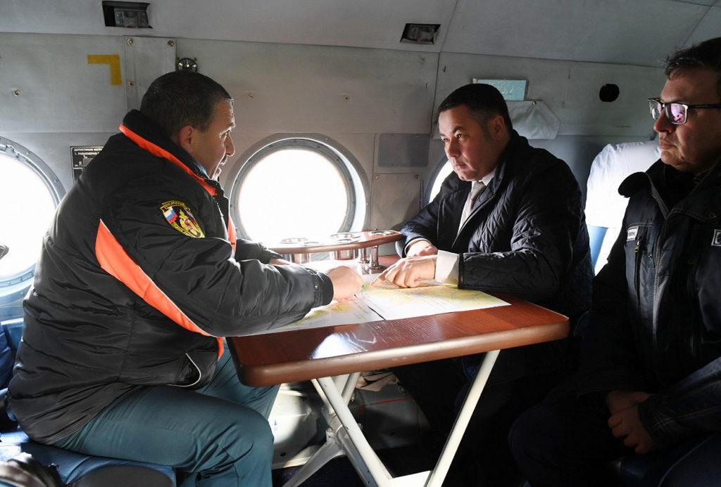 Игорь Руденя лично проконтролировал ход восстановления электроснабжения в Вышнем Волочке
