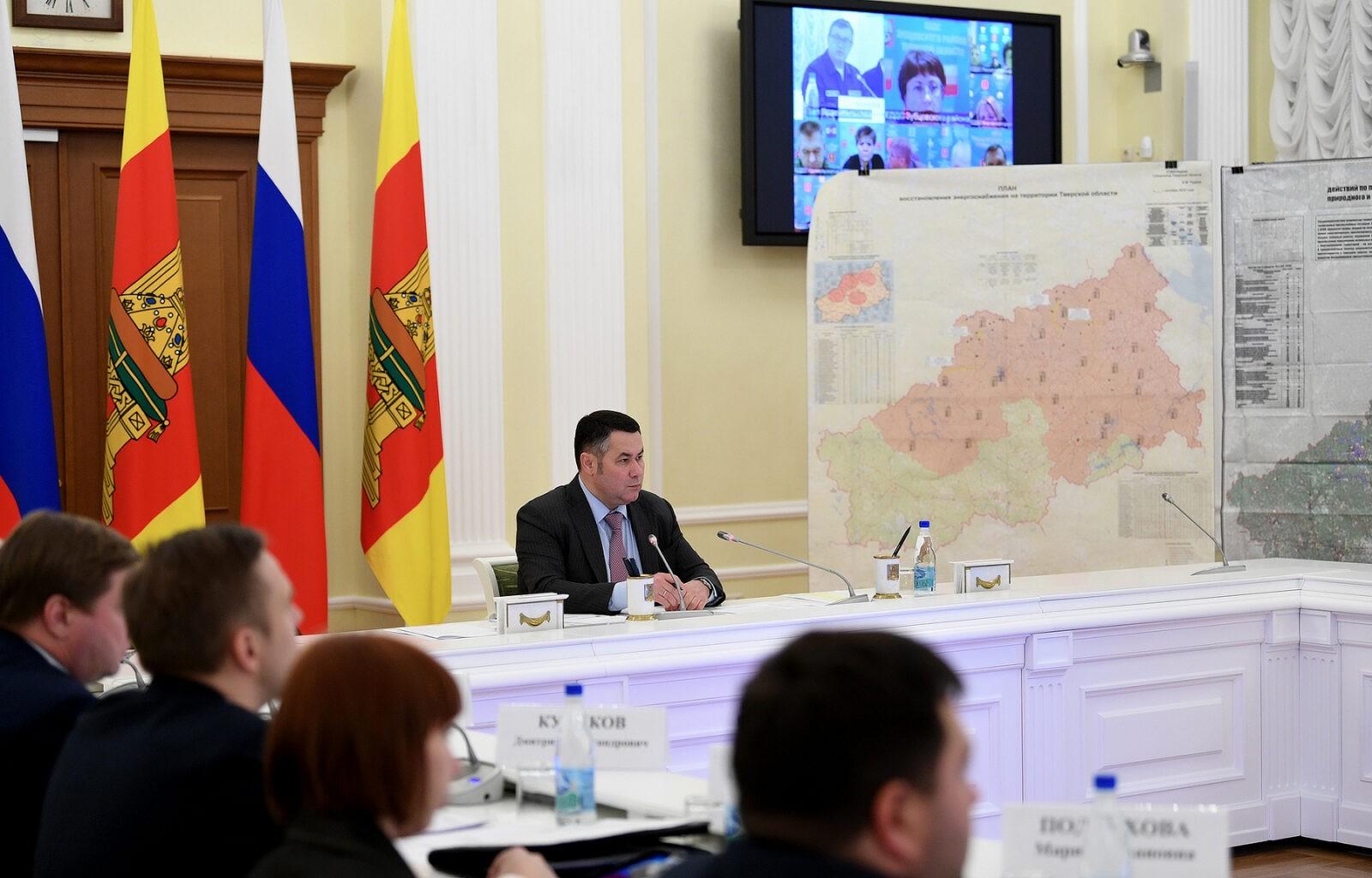 Игорь Руденя поручил главам муниципалитетов довести информацию до населения о ходе восстановительных работ на электросетях