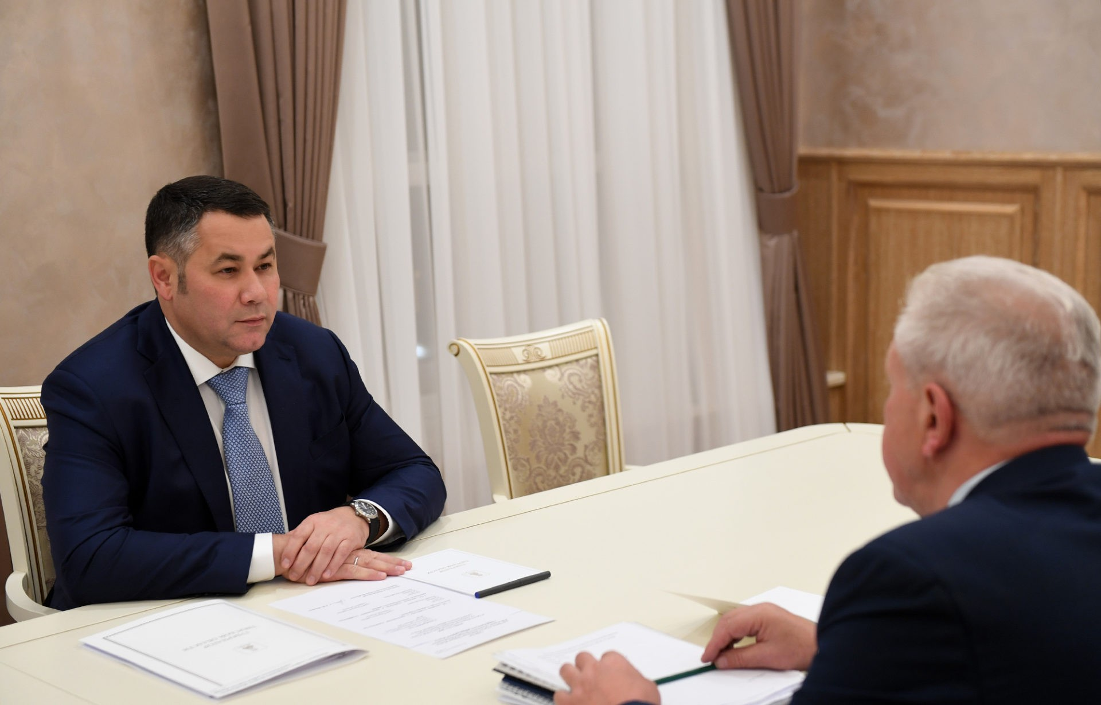 Игорь Руденя встретился с главой Ржевского района Валерием Румянцевым