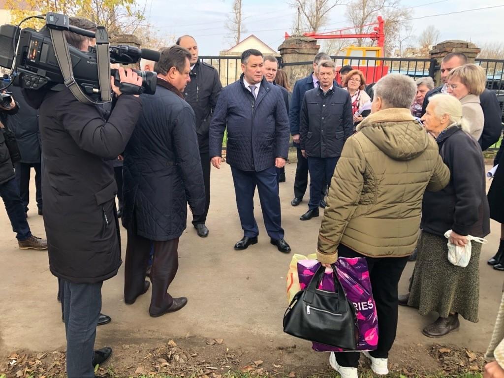 Губернатор Тверской области Игорь Руденя посетил Ржев с рабочим визитом