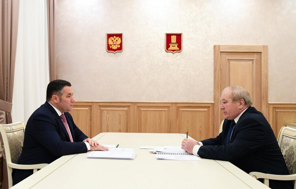 Глава Западнодвинского района побывал на приёме у губернатора Игоря Рудени
