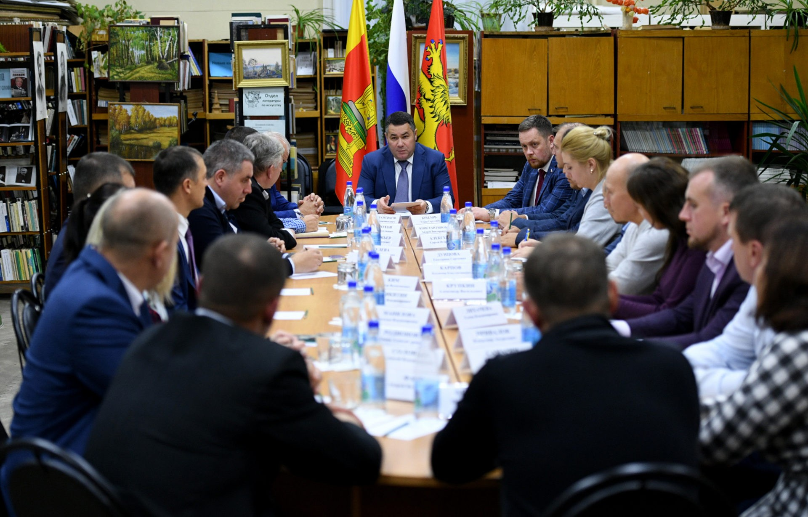 Игорь Руденя обсудил с депутатами Ржева развитие муниципалитета