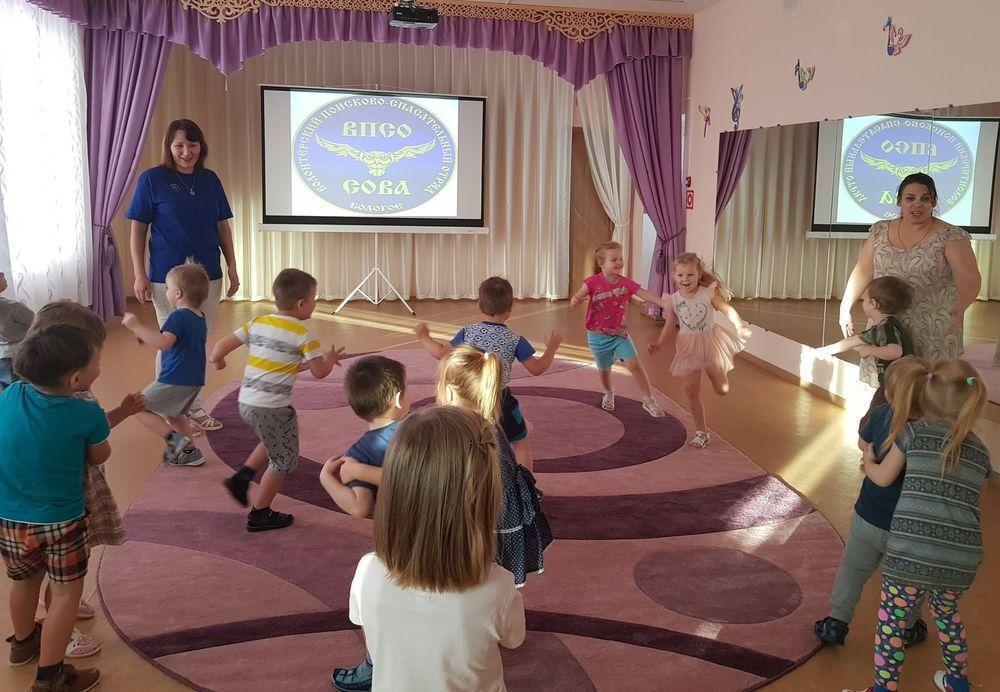 Волонтёры ВПСО «Сова» провели занятие с детсадовцами в Бологое