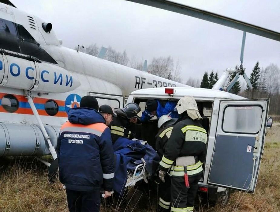 Вертолет санавиации экстренно доставил в Тверь пациента
