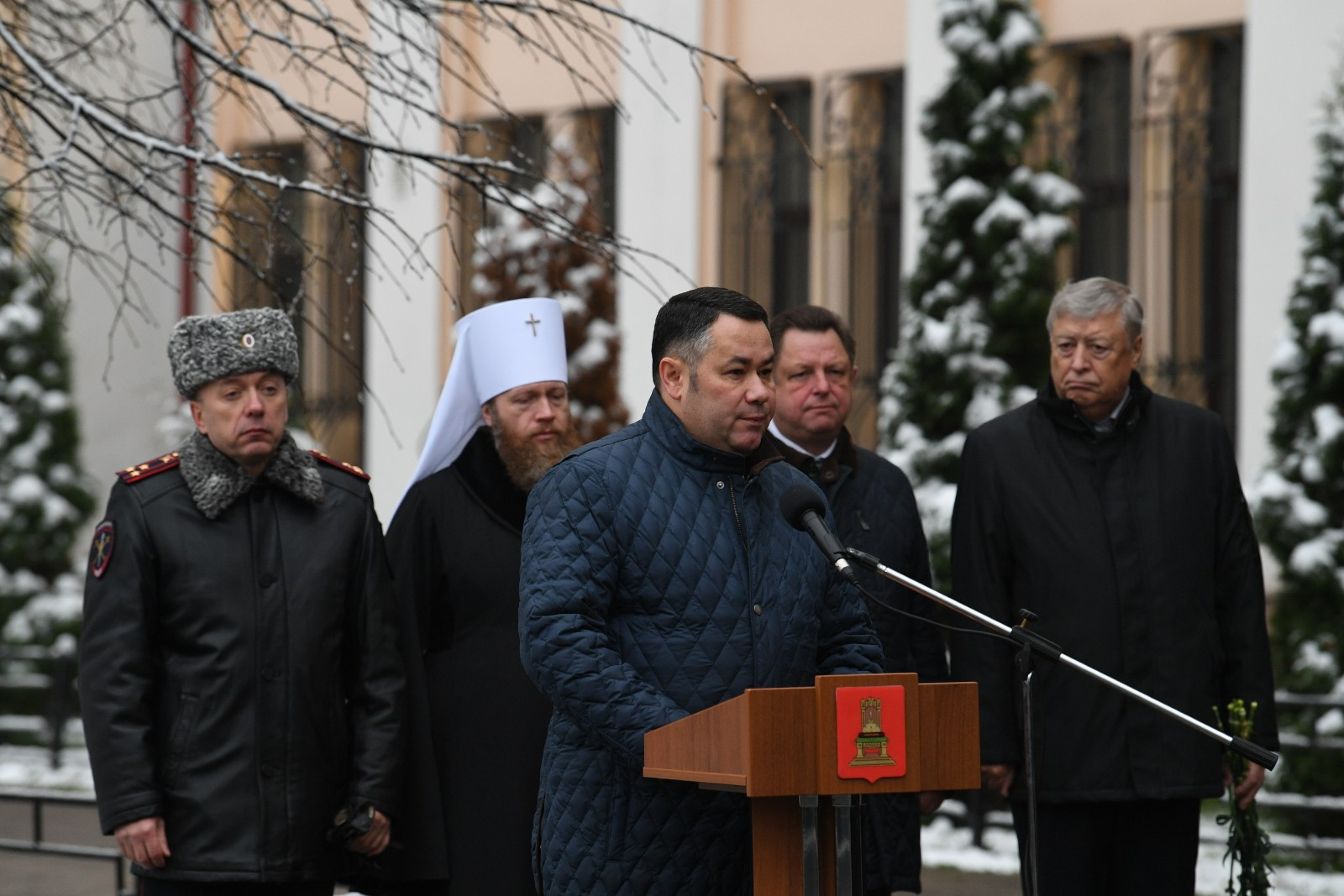 Глава Тверской области принял участие в митинге в честь Дня памяти