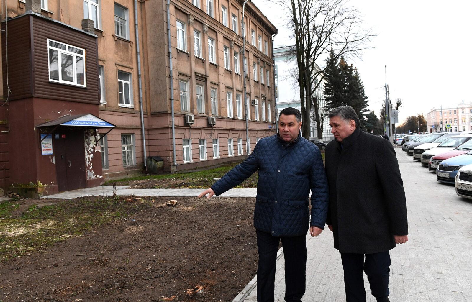 Игорь Руденя осмотрел объекты нацпроектов в Твери