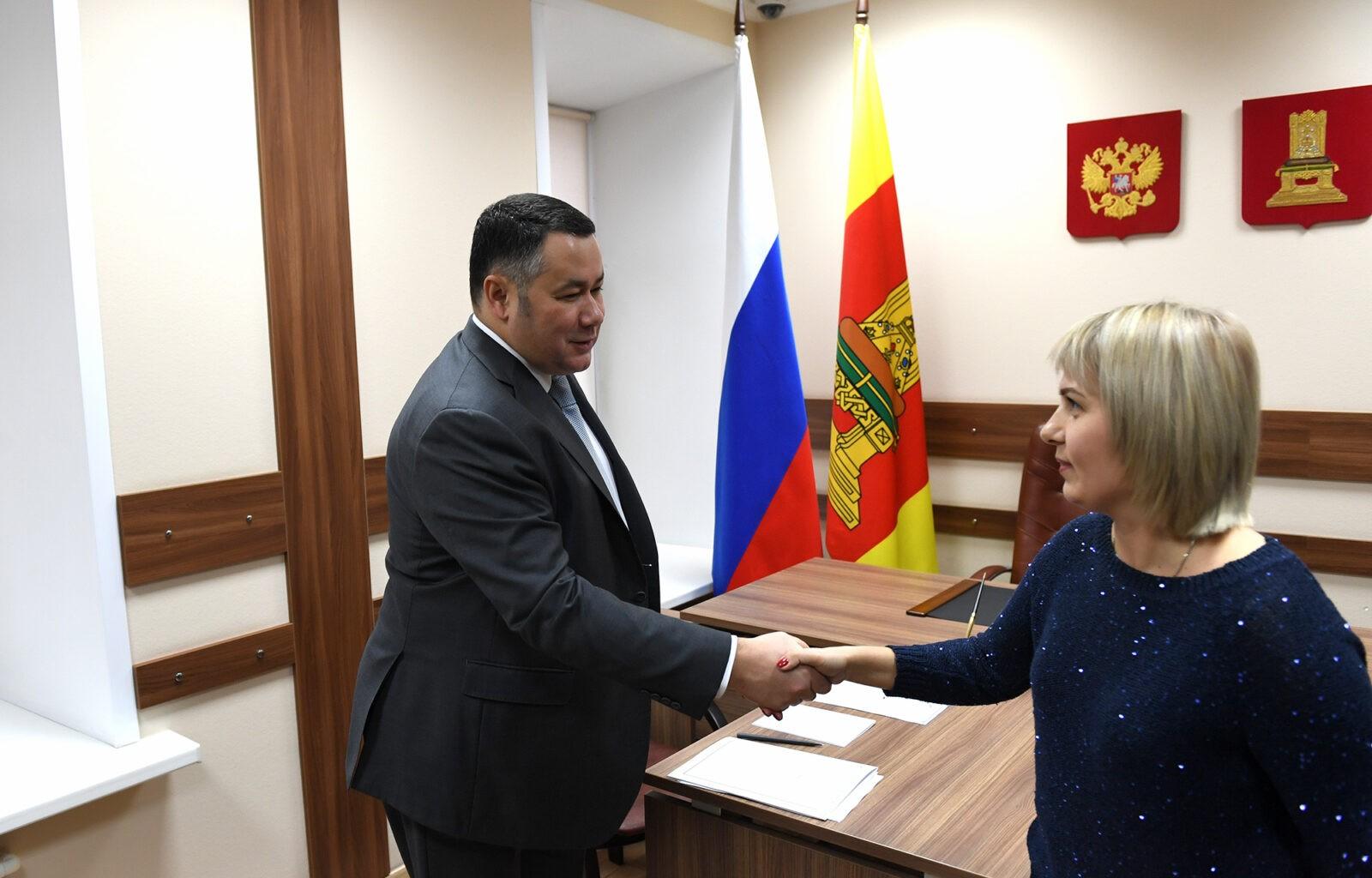 На личном приеме у губернатора Игоря Рудени обсудили поддержку одаренных детей