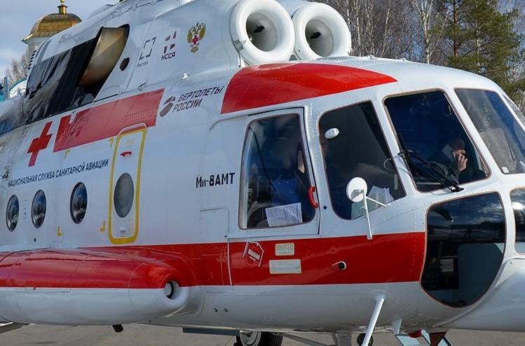 Вертолет Ми-8 доставил пациента из Бежецка в Тверь