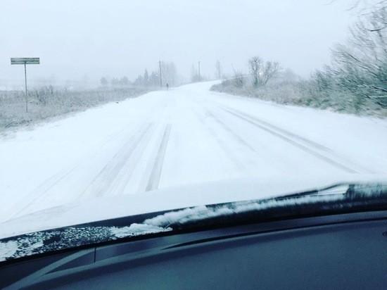 В Вышнем Волочке лег первый снег