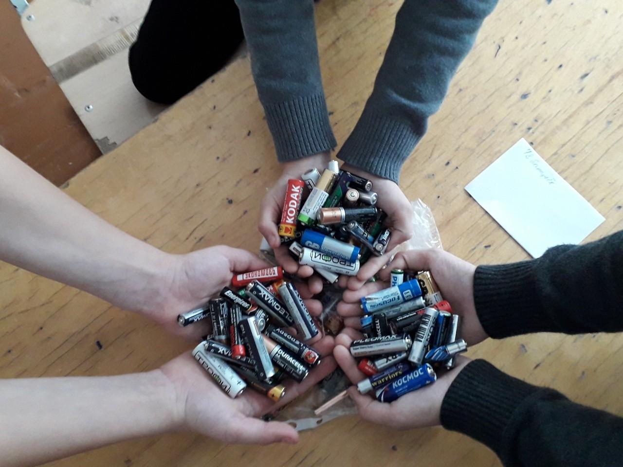 Тверские школьники собирают старые батарейки, чтобы спасти планету