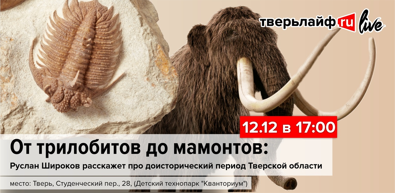 О доисторических жителях и морских пляжах Тверской области расскажет палеонтолог