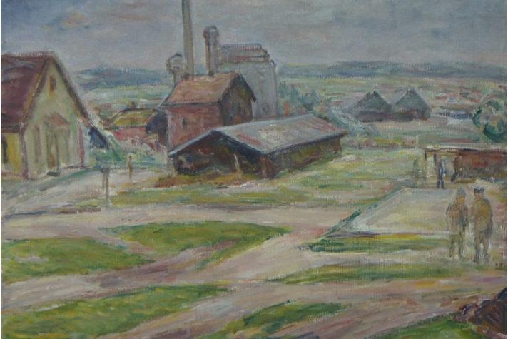 «Пейзаж с фабрикой»: картина, написанная в концлагере, попала в тверской музей