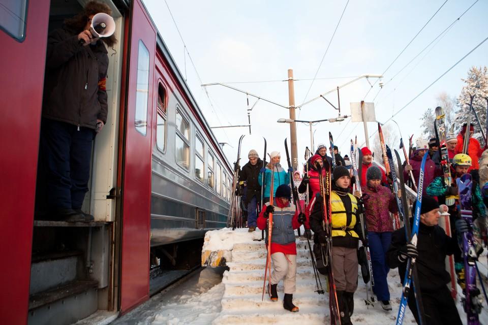 В тверских электричках можно бесплатно провести лыжи