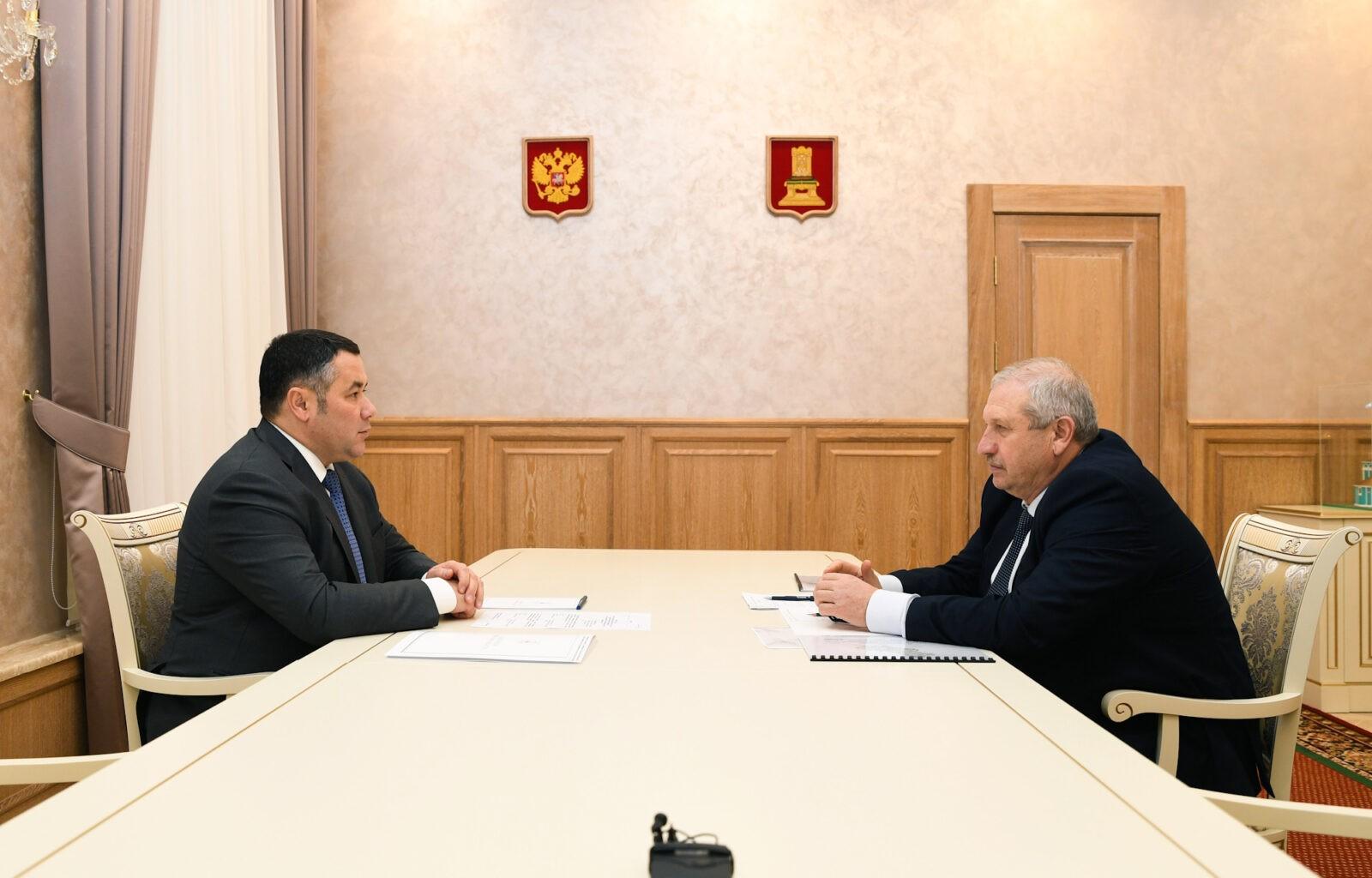 Игорь Руденя встретился с главой Андреапольского муниципального округа