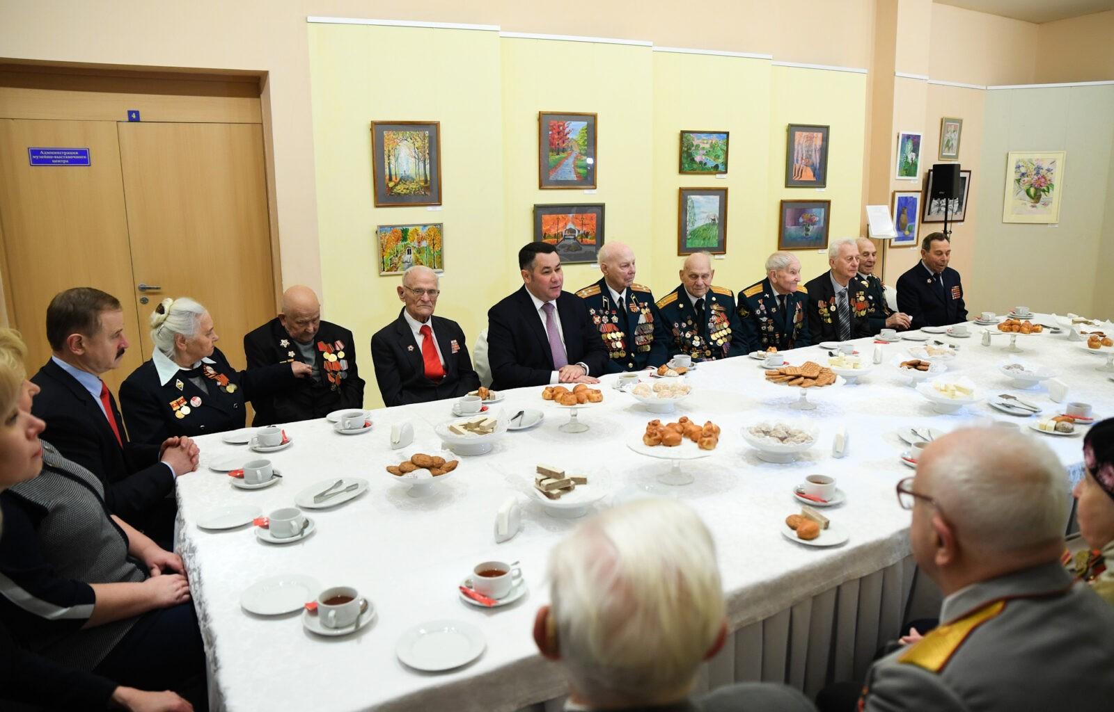Игорь Руденя в 78-ю годовщину со дня освобождения Калинина от немецко-фашистских захватчиков встретился с ветеранами Великой Отечественной войны