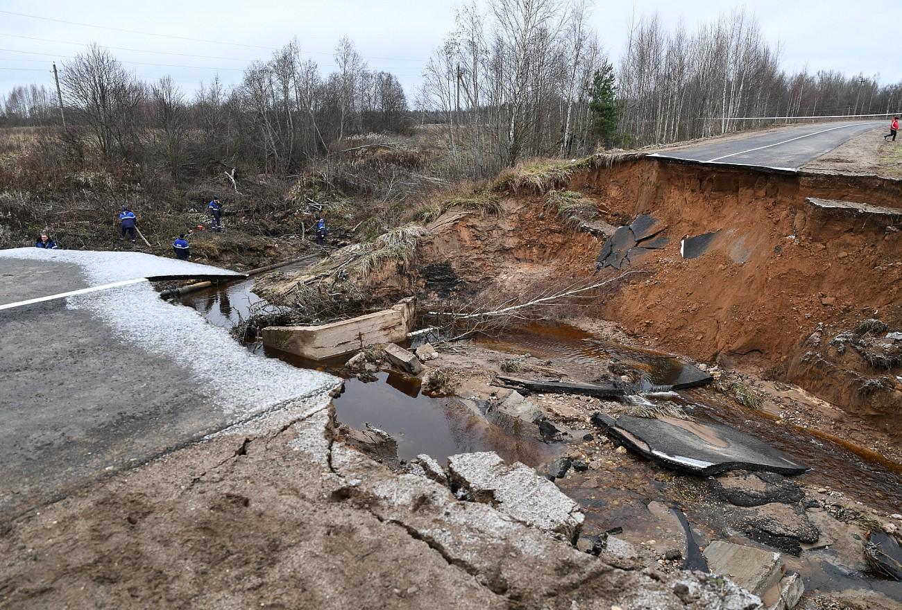 На участке автодороги «Москва - Санкт-Петербург» - Гирино завершили восстановительные работы