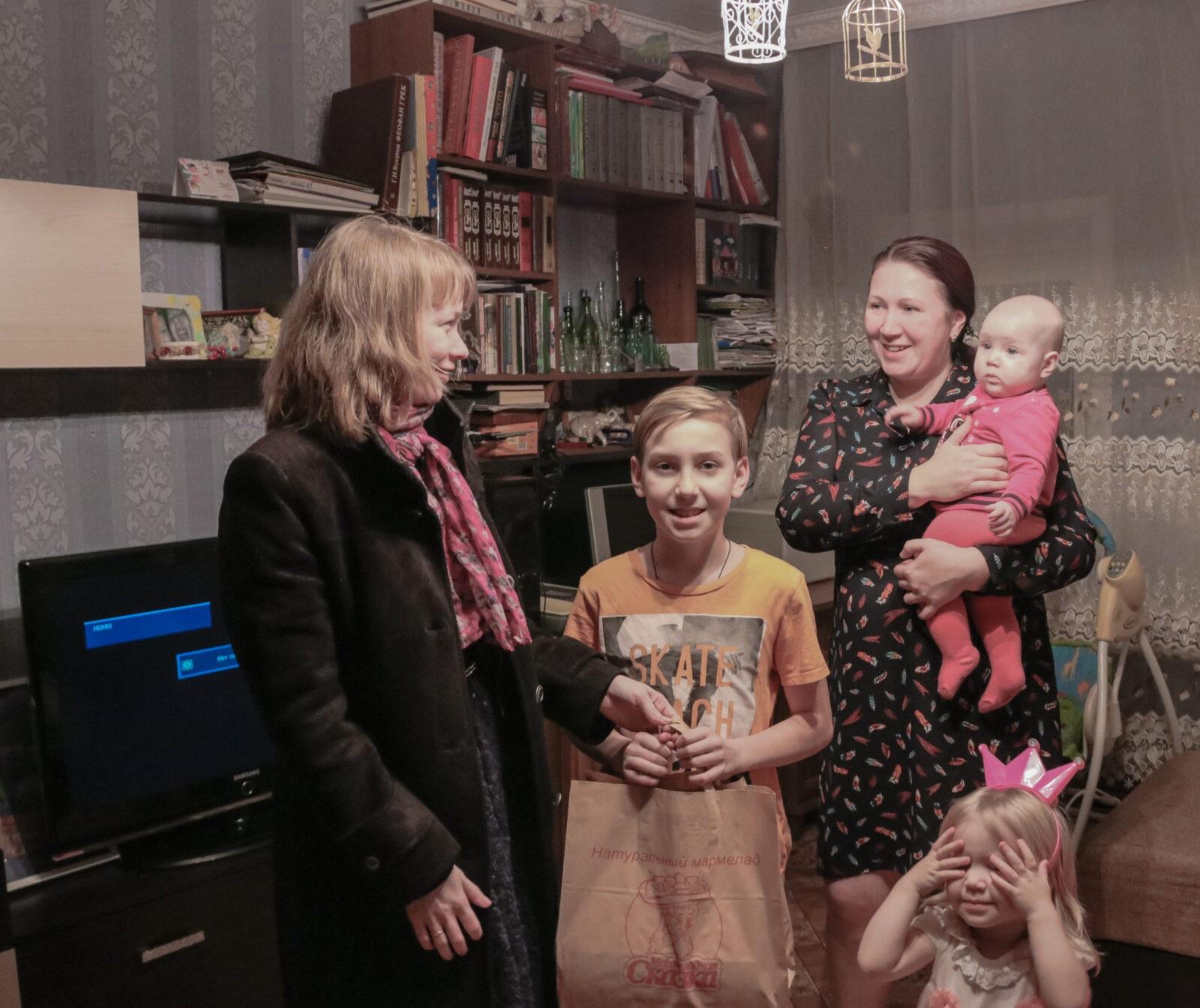 РИА «Верхневолжье» поздравило с Новым годом многодетную семью Байковых из Твери