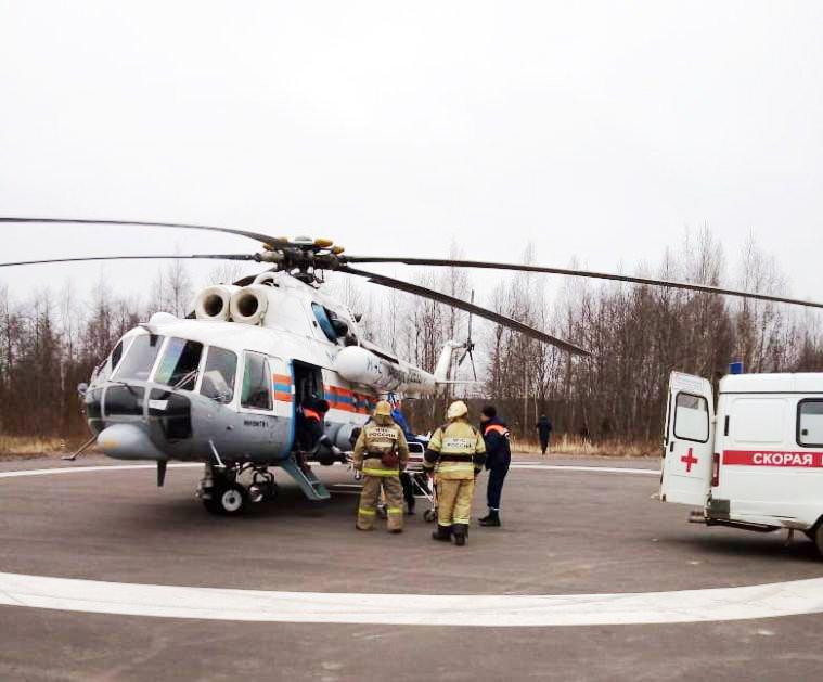 Вертолет МЧС экстренно доставил пациента из Нелидово в Тверь