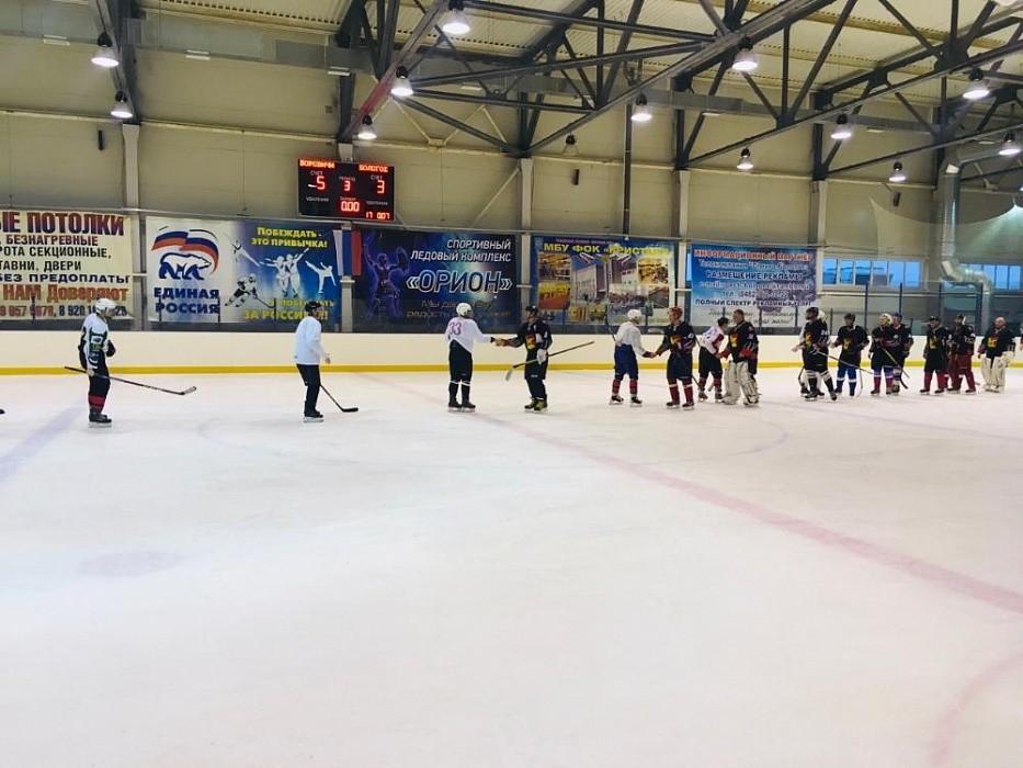 В Бологое прошли соревнования по хоккею