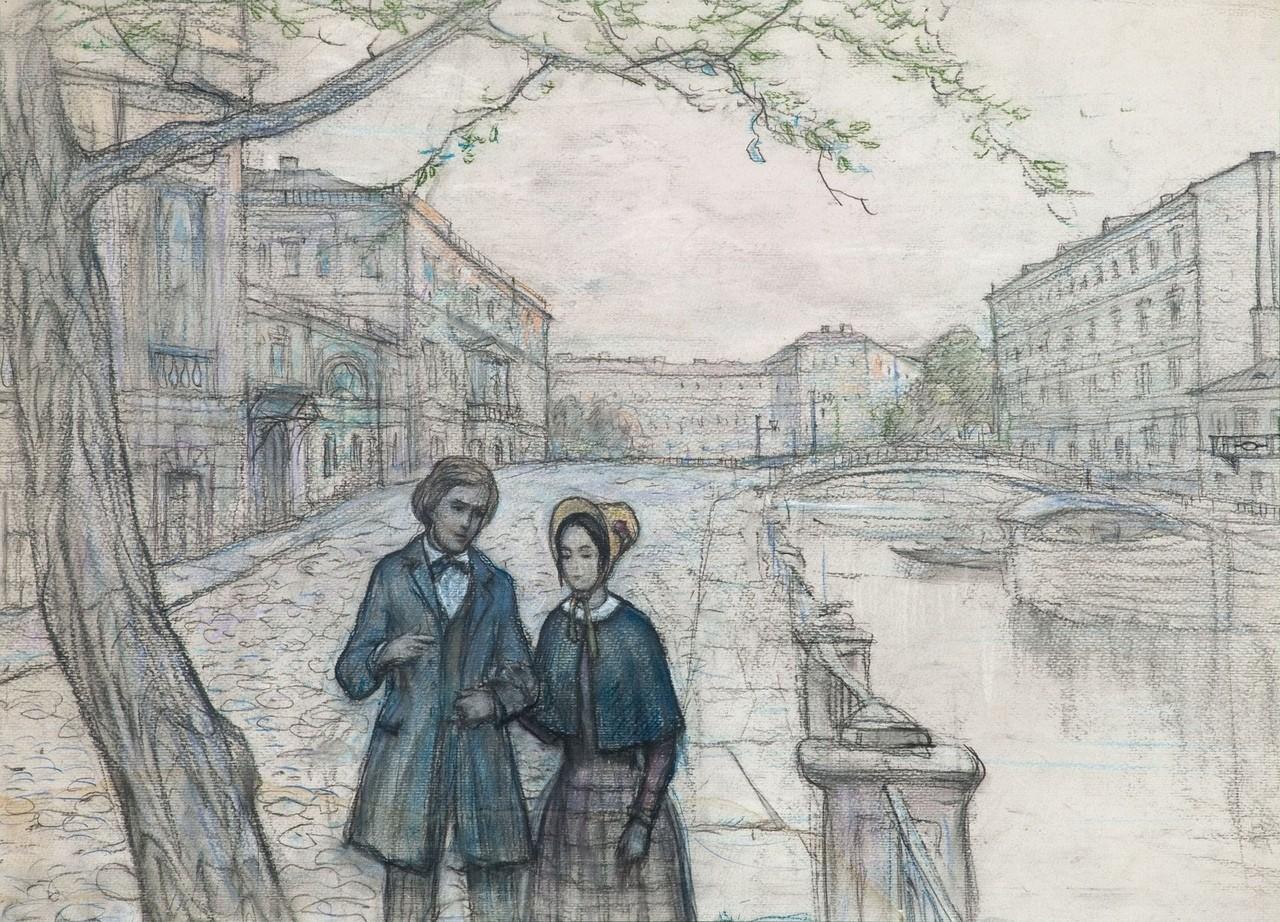В Твери работает выставка иллюстраций Ильи Глазунова