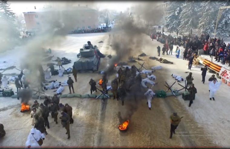 Бой за освобождение Нелидово воссоздали в Тверской области ВИДЕО