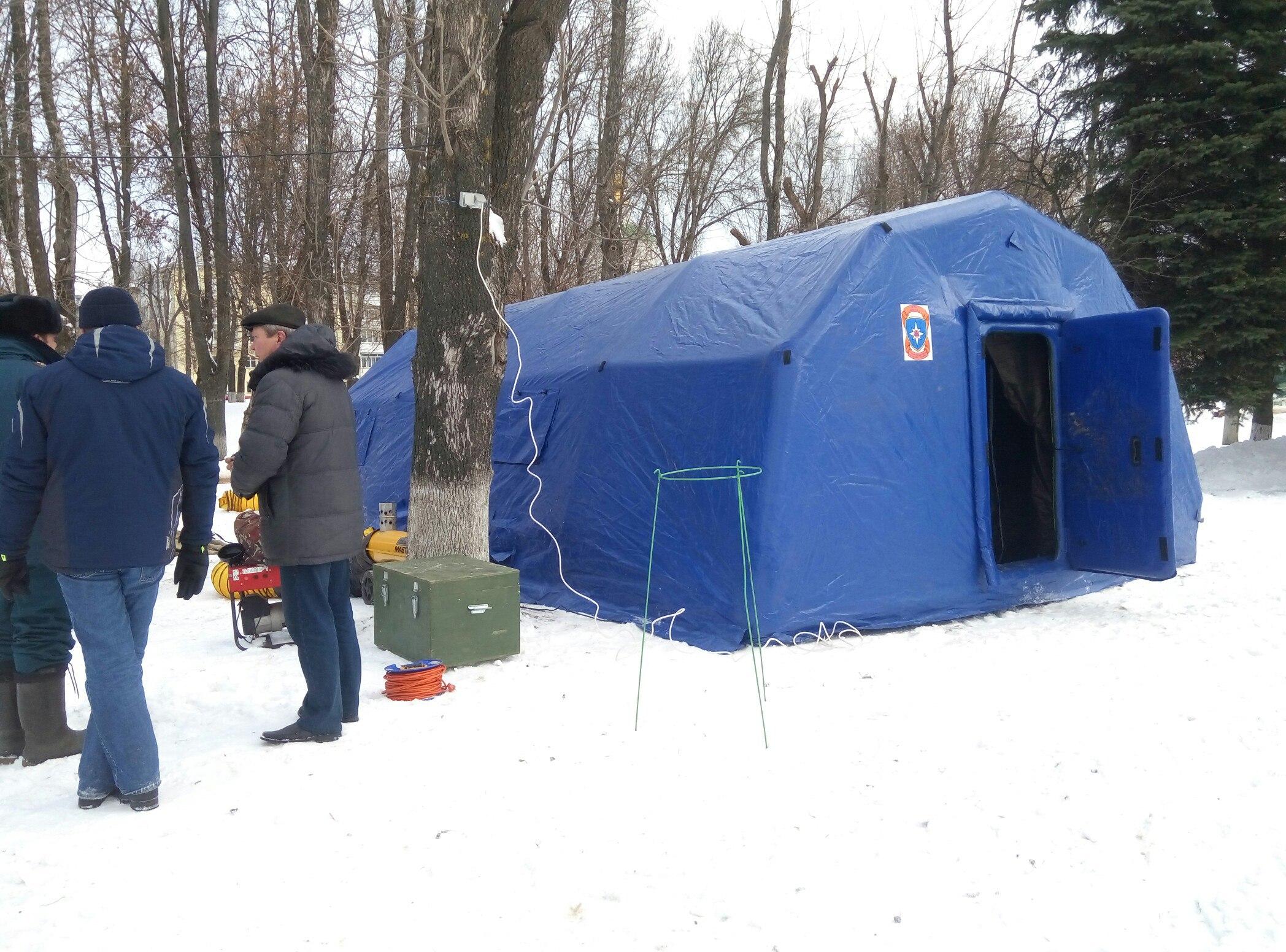 У крещенской купели в Твери оборудуют палатки для обогрева