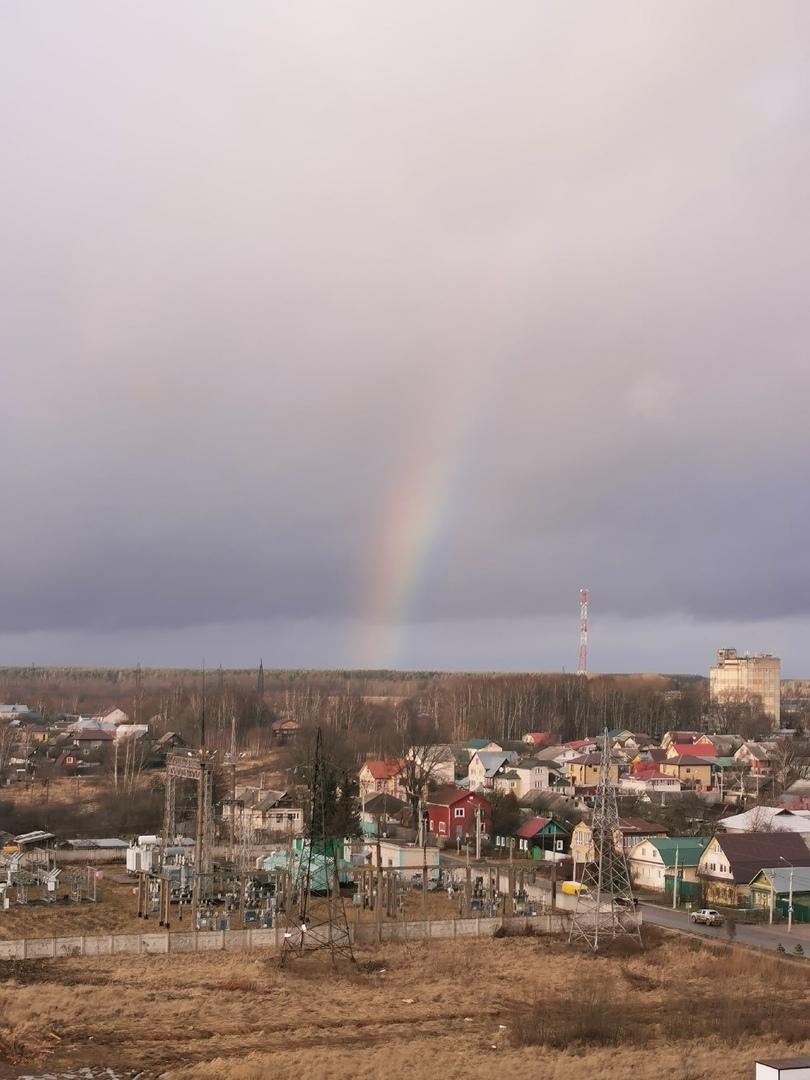 В Твери сфотографировали январскую радугу