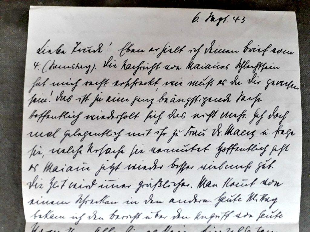 На чердаке старого дома под Тверью найдено немецкое письмо 1943 года