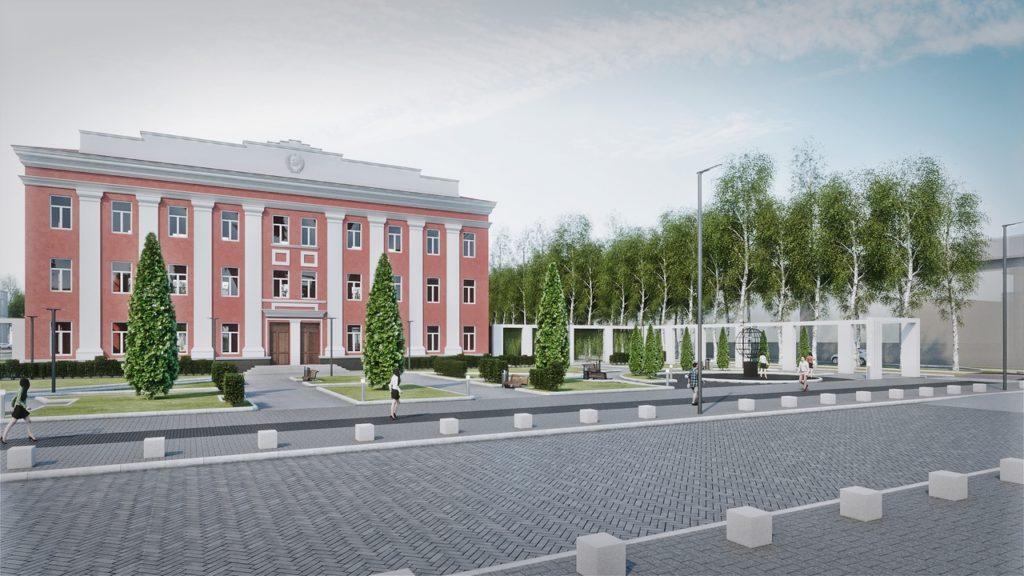 В Нелидово показали, как будет выглядеть площадь Ленина после реновации