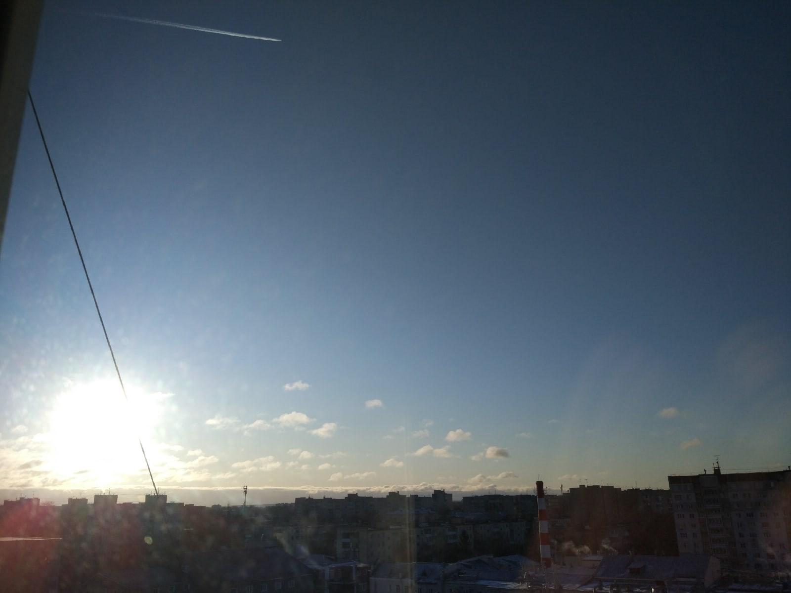 В Твери выглянуло солнце