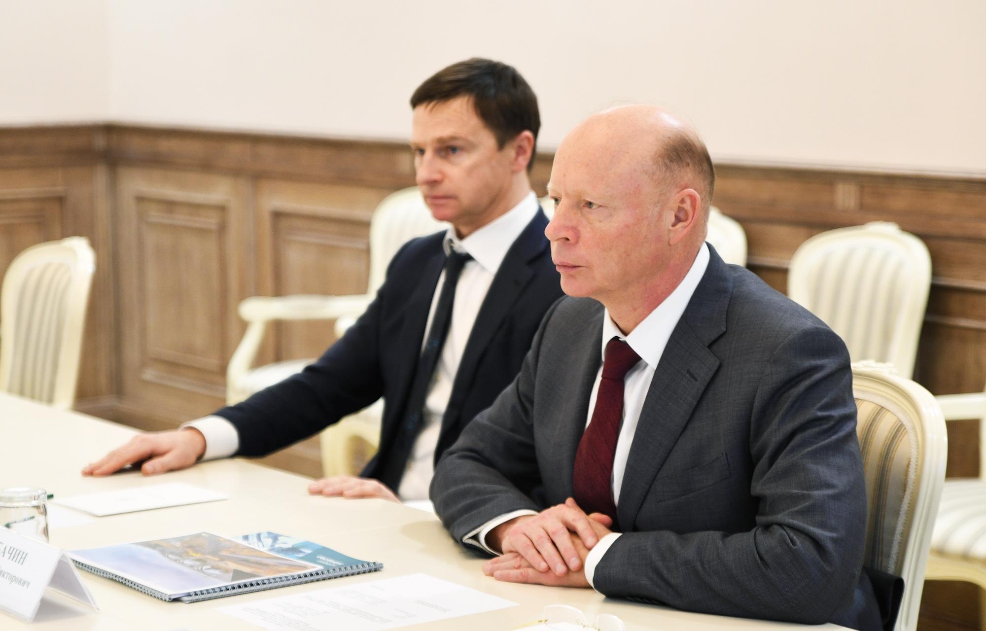 Строительство транспортно-пересадочного узла в Завидово обсудил Игорь Руденя с председателем Совета директоров ГК «Агранта» Сергеем Бачиным