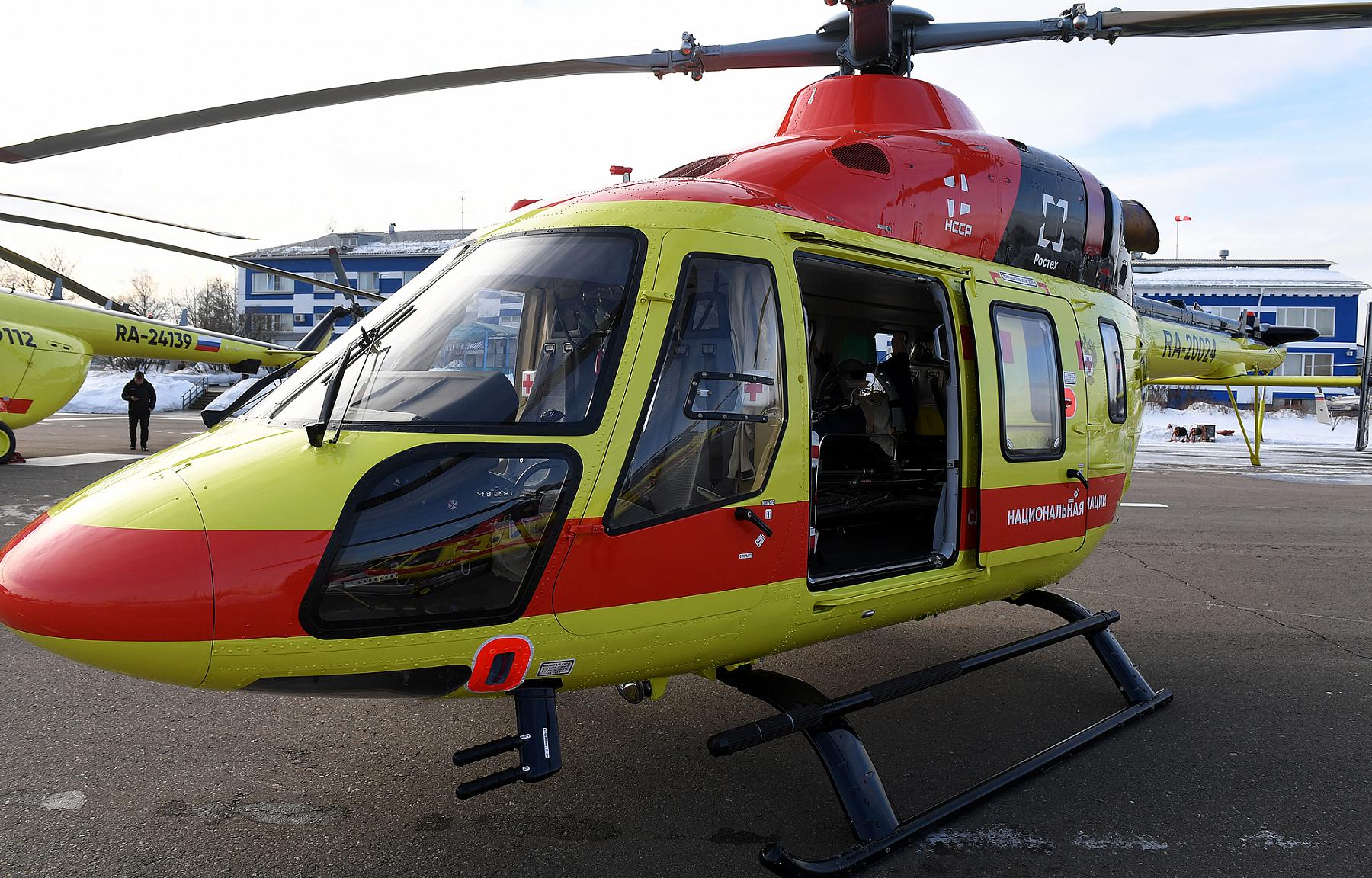 Вертолет санавиации доставил в Тверь пациента с инфарктом