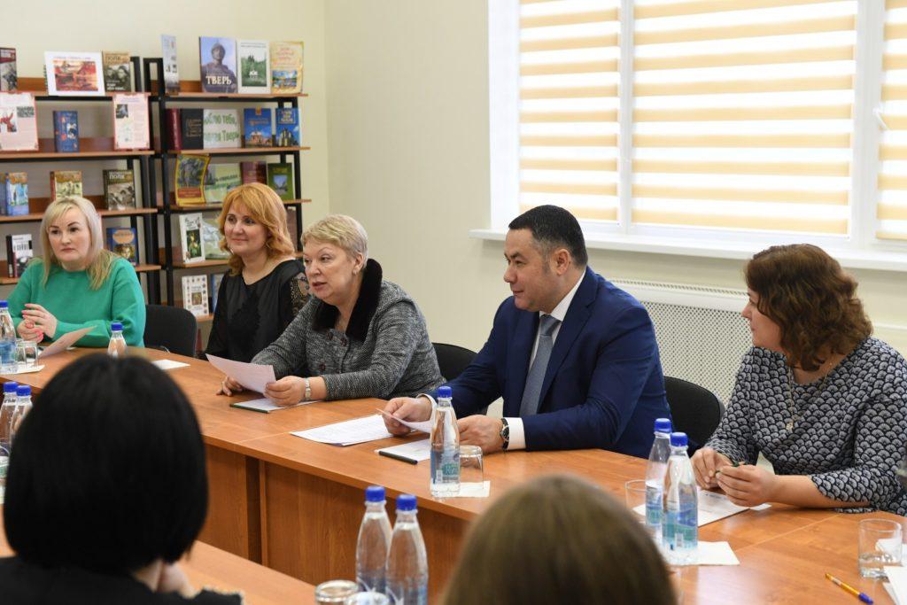 Ольга Васильева и Игорь Руденя осмотрели школу в микрорайоне «Брусилово»
