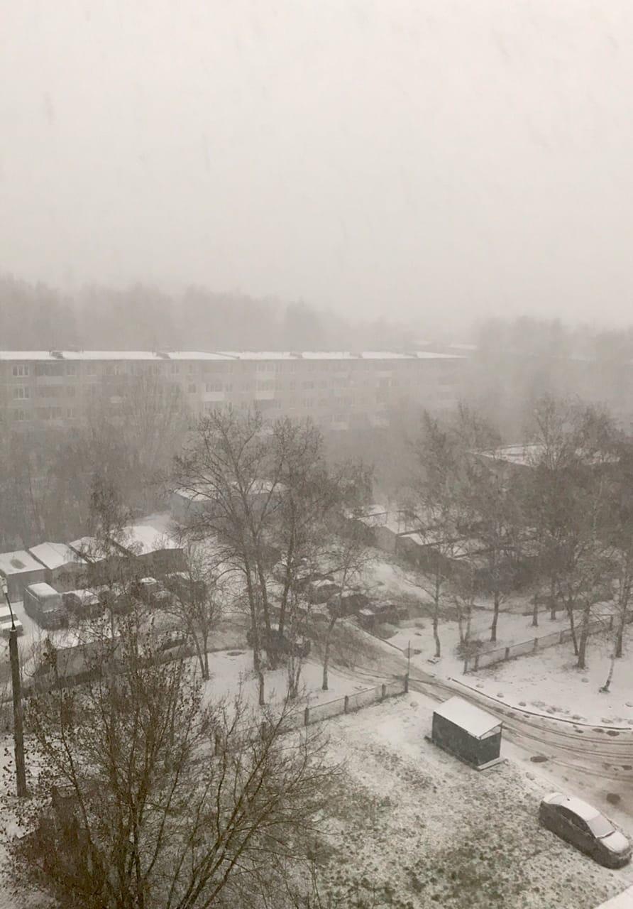 В Тверь пришел долгожданный снег ВИДЕО