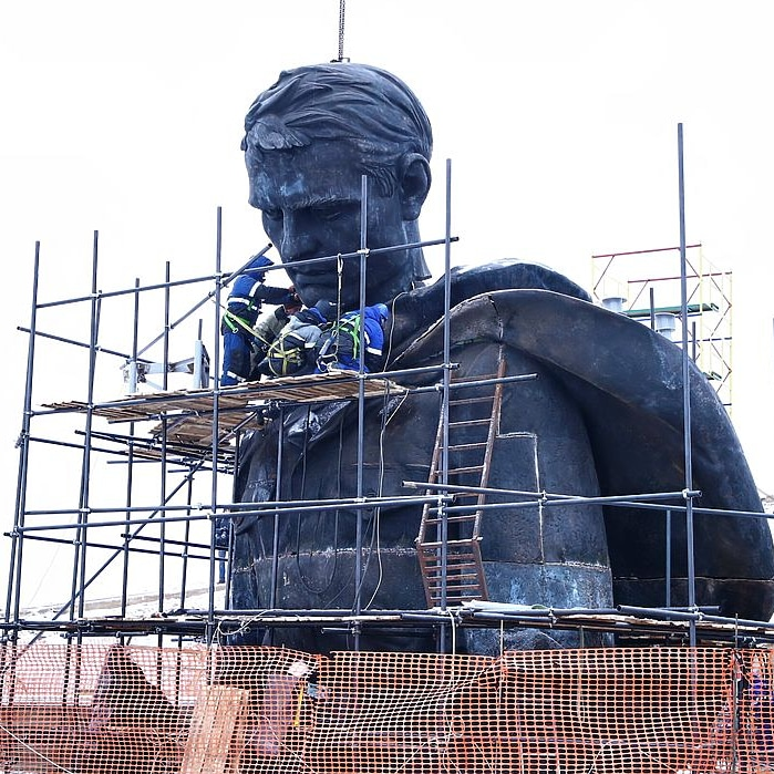 Скульптор Ржевского мемориала поделился фото создания колоссального монумента