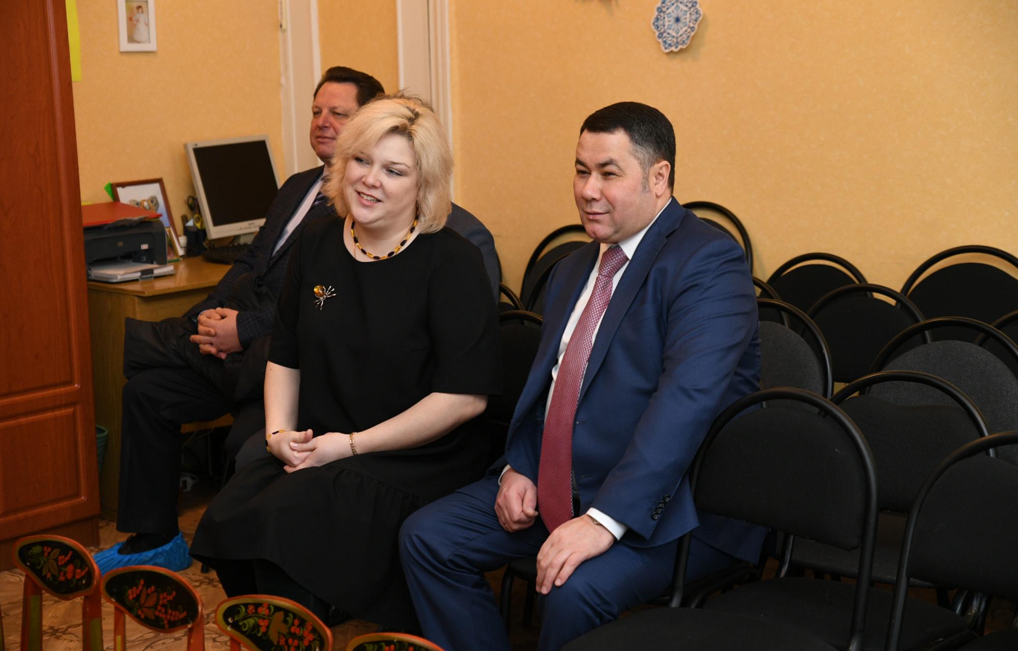 Игорь Руденя навестил детские сады и школы города Кимры