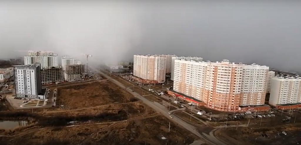 Наступление грандиозной метели на Тверь попало на видео