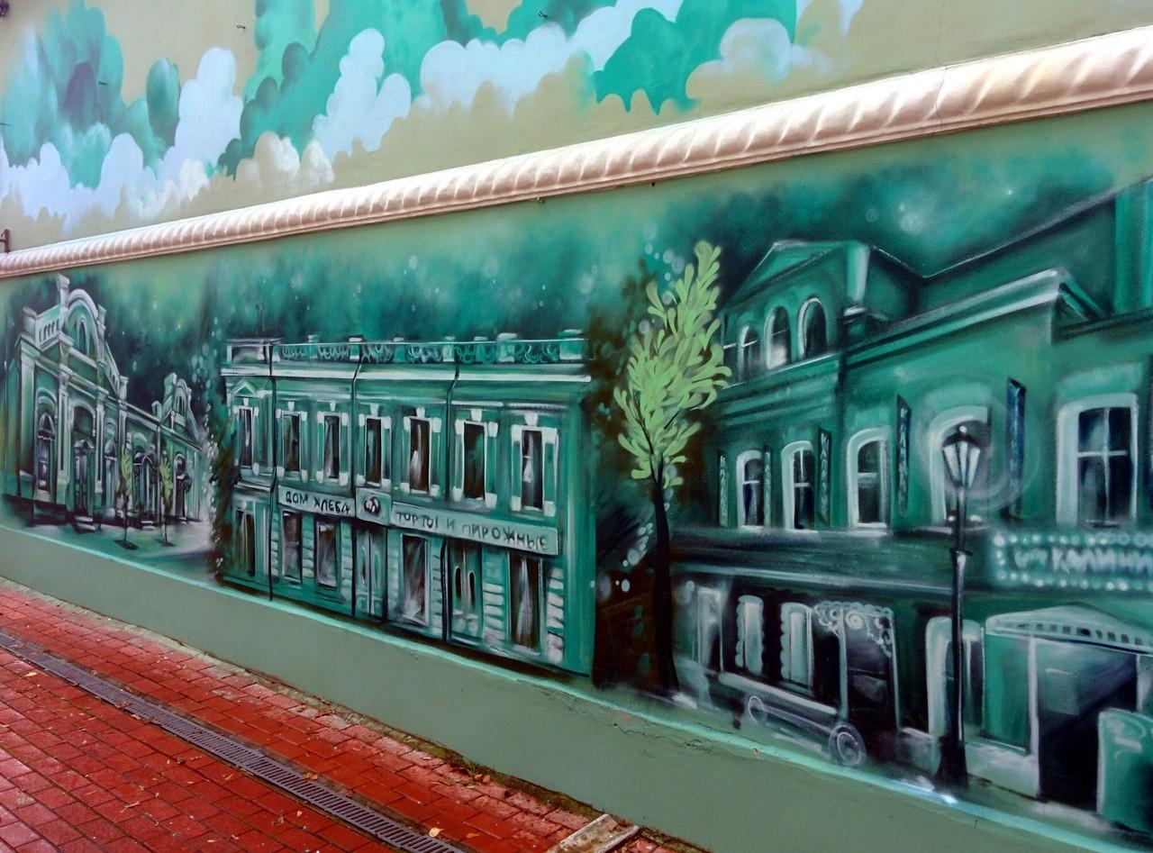 На улице Трёхсвятской Твери появилось граффити Трёхсвятской