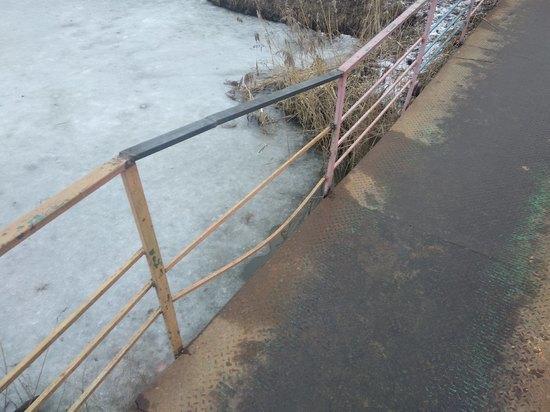 В Твери отремонтировали пешеходный мост