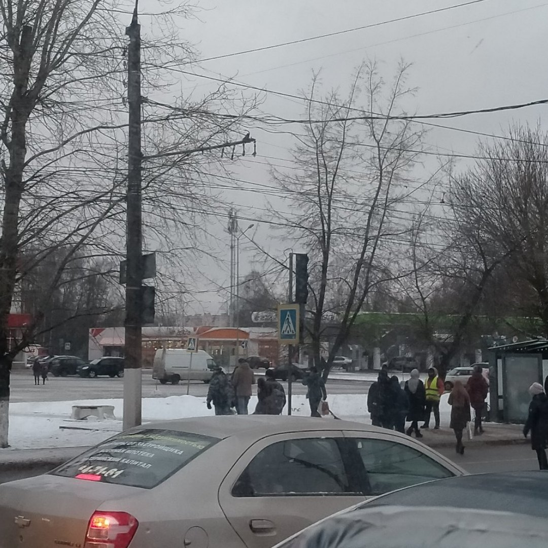 В Твери не работает светофор на выезде
