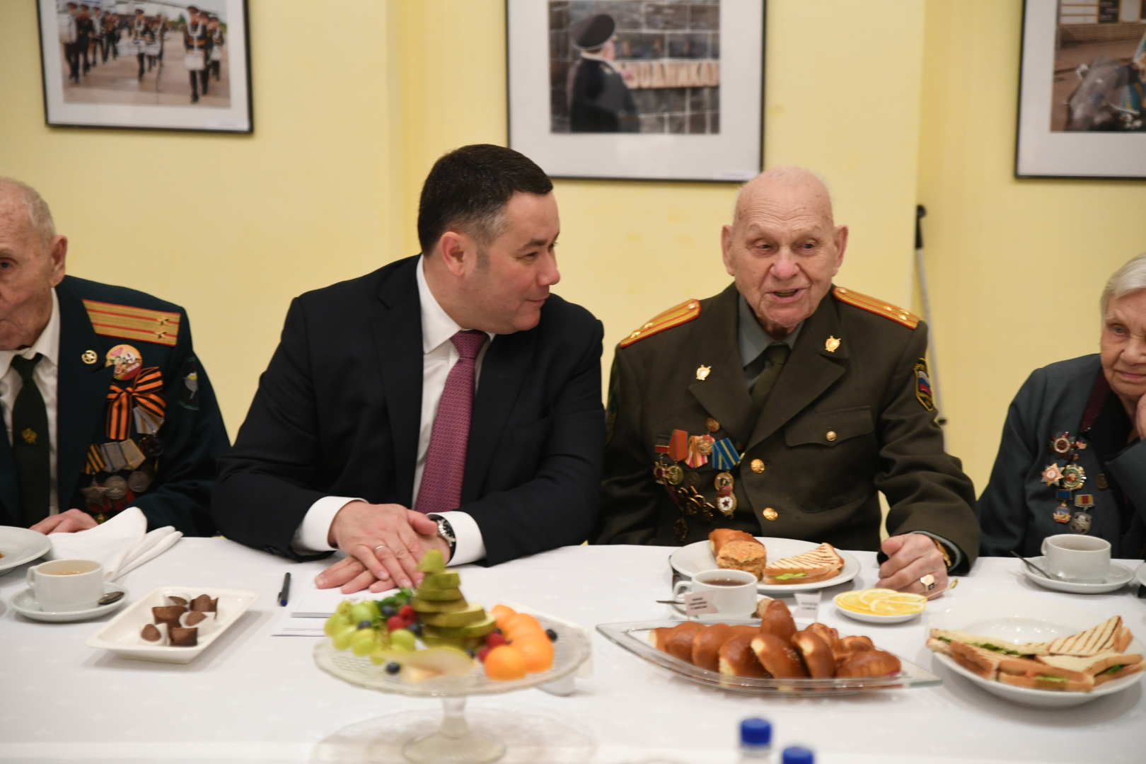 Игорь Руденя обсудил с ветеранами Верхневолжья подготовку к празднованию 75-летия Победы