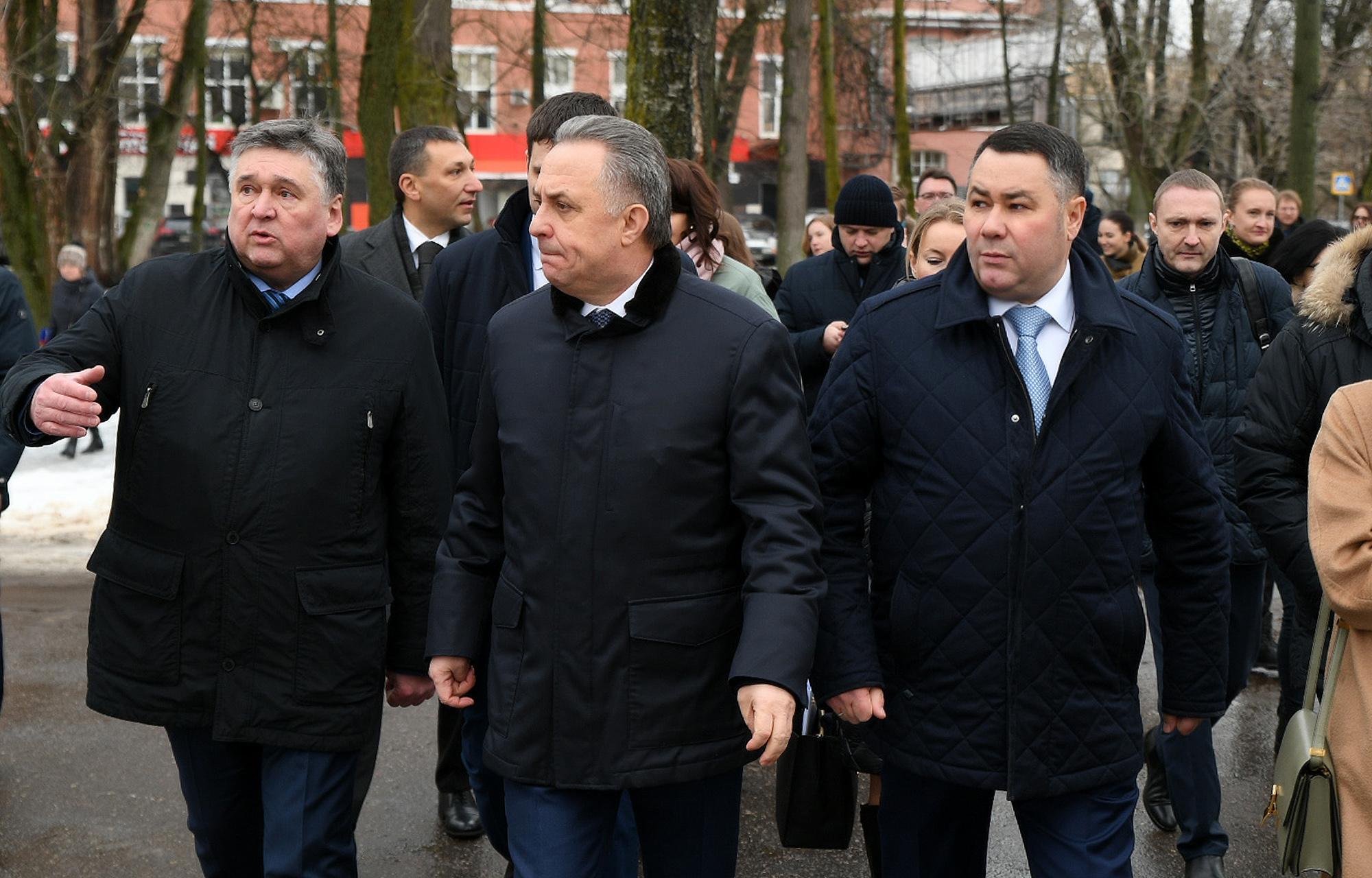 Виталий Мутко посетил Морозовский городок в Твери