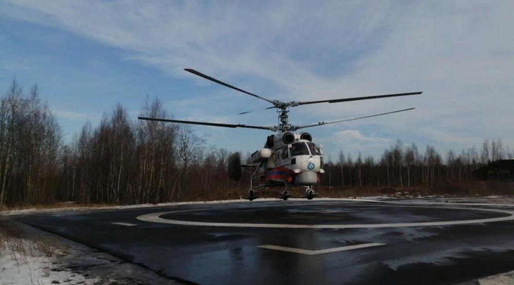Вертолёт санавиации доставил пациента из Нелидово в Тверь