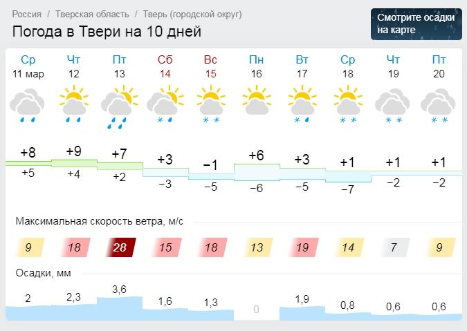 Зимние холода, низкое давление и штормовой ветер вернутся в Тверь