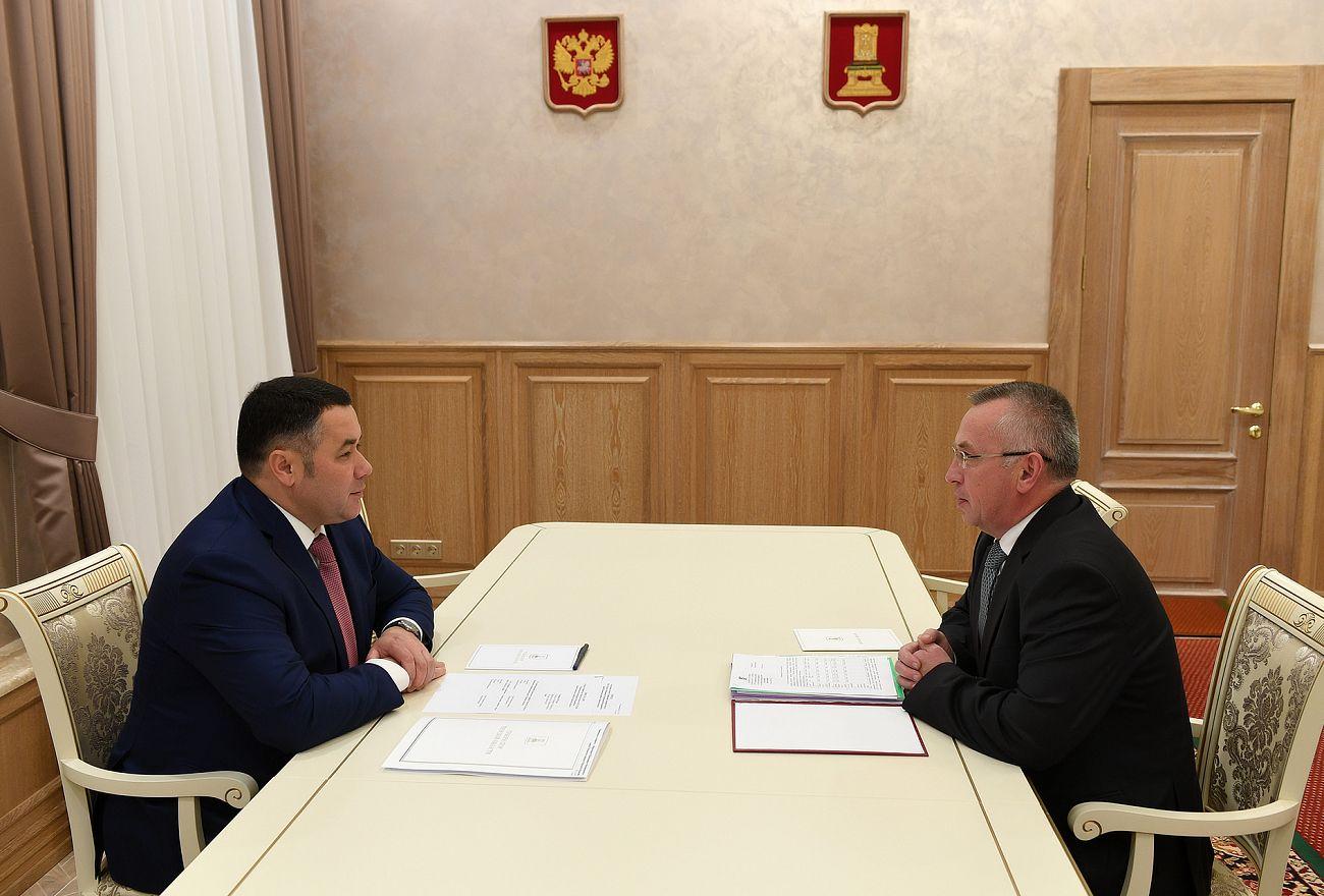 Игорь Руденя встретился с главой Пеновского района Владимиром Морозовым